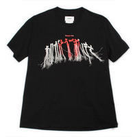 doublet  20AW36CS166 THANK YOU FRINGE EMBROIDERY T-SHIRT(BLACK)
