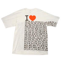 doublet  COMPRESSED EARTH T-SHIRT (I LOVE-) 20AW39CS143