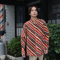 MASU VASE PATTERN SHIRT(FADED ORANGE)