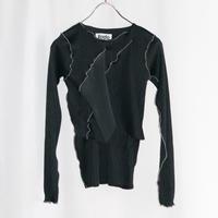 【アム3周年別注】kotohayokozawa  Pleats top long-sleeve  | TDKT-P05