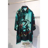 TAAKK  silk shirts TA21SS-SH016 (BLUE)