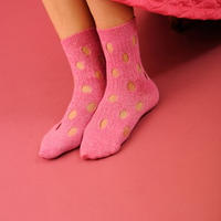 BANSAN  Hall mix knit socks-PINK