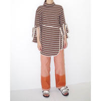 osakentaro   High neck rib knit rap tops(stripe)  no.2003229