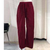JieDa  Side Slit Moleskin Easy Pants | Jie-18W-PT02-B