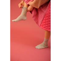 BANSAN  Hall mix knit socks-SILVER
