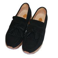 elephant TRIBAL fabrics ×Tomo&Co / Tassel Loafer Air Sole(BLACK)