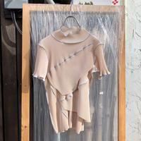 kotohayokozawa  Pleats top short-sleeve,high neck  | TDKT-P04