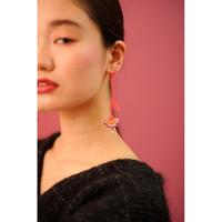 BANSAN  /  Drop frower  Piace/Earrings-PINK