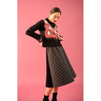 BANSAN Fur jacquard pleat tops | BSAW19-FR008