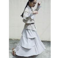 BANSAN  Pleat & Frill 2Way Skirt - BEIGE