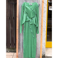 kotohayokozawa Pleats dress long-sleeve / TDKT-PD05