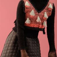 BANSAN MOMOKO hand knit mini vest | BSAW19-JT012