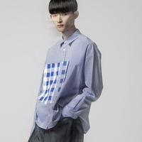 ANREALAGE |  ZOOM DETAIL GINGHAM SHIRTS   19AAR122