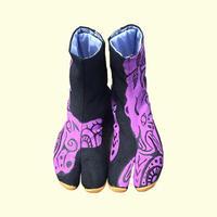 -受注制作- 手描き地下足袋「 すっと立つ」 / -Made to order- Hand painting Jikatabi 「Stand up」
