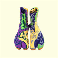 -受注制作- 手描き地下足袋「 滑らかな地面の下」 / -Made to order- Hand painting Jikatabi 「 Under smooth ground」