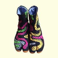 -受注制作- 手描き地下足袋「 モツポップ」 / -Made to order- Hand painting Jikatabi 「 Tripe pop」