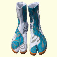 -受注制作- 手描き地下足袋「 水面」 / -Made to order- Hand painting Jikatabi 「Water surface」