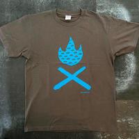 TAKIBI DX  T-shirt(CHARCOALxTURQUOISE) Design by KENTARO TANAKA