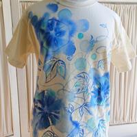 ユニセックスsサイズ❇️心花咲く❇️夏の朝顔❇️手描きTシャツ