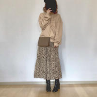 leopard chiffon skirt