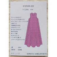 IFOP009-202 ノースリーブAラインストライプ柄ワンピース