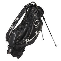 【RomaRo】PRO MODEL CADDIE BAG 8.5ブラック/シルバー