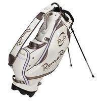 【RomaRo】PRO MODEL CADDIE BAG 8.5ホワイト/ガンメタル