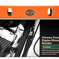 長期在庫・箱壊れの為 特別価格 H-D純正     クローム・ビレット・フロントエンジンマウントブラケット