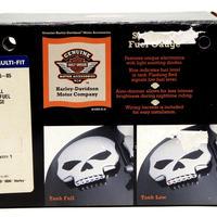長期在庫・箱壊れの為 特別価格  H-D純正 LEDフュエルゲージ・スカルコレクション