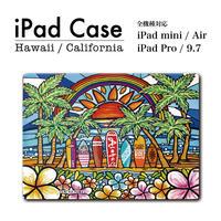 """iPadケース タブレットケース """"Surf Rider Rainbow2"""""""