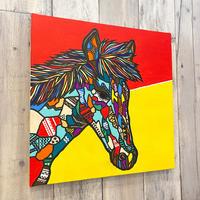 Horse  S6号 (410×410 mm)  / Artist ICHI / 原画