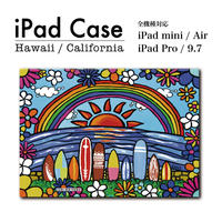 "iPad  手帳型カバー ""Surf Rider Rainbow"""