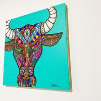 Bull  S8号 (455×455 mm)  / Artist ICHI / 原画