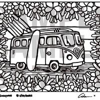 #stayhome 無料ダウンロード 塗り絵  WagenBusTrip