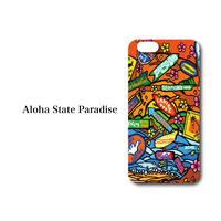 "iPhone 6/7/8/X/XR 対応 ハードケースカバー ""Aloha State Paradaise"""