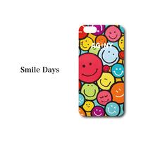 "iPhone 6/7/8/X/XR 対応   ハードケースカバー ""Smile Days"""