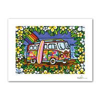"""A4 ArtPrint マットフレーム """"Wagen Bus Trip"""""""