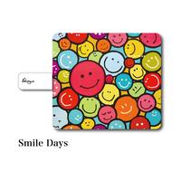 "iPhoneシリーズ対応 手帳型カバー ""Smile Days"""