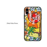 iPhone ガラスハードケース ラウンド型 Pala