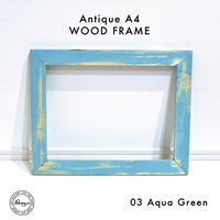 Art Print WOOD FRAME 〝Aqua Green〟