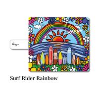 "iPhoneシリーズ対応 手帳型カバー ""Surf Rider Rainbow"""