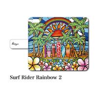 "iPhoneシリーズ対応 手帳型カバー ""Surf Rider Rainbow 2"""