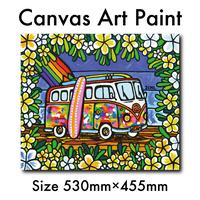 """木張りキャンバスプリント/Artist Proof F10号 """"Wagen Bus Trip"""""""