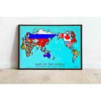 ICHI NO YUME  世界地図 A1ポスター