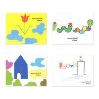 ポストカード standard days『FLOWER』(4枚セット)