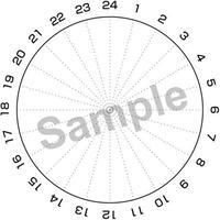 1日のスケジュール表(円形)/PNGファイル 3種類