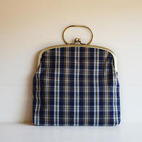 ichiガマ 鞄  小布団/縞紺茶
