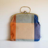 ichiガマ 鞄  布団縞/橙紺