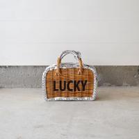 eb.a.gos  ワニ型押し 穴飾り Luckyプリント  シルバー