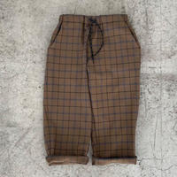 【MOUN TEN.】check warm tapered pants